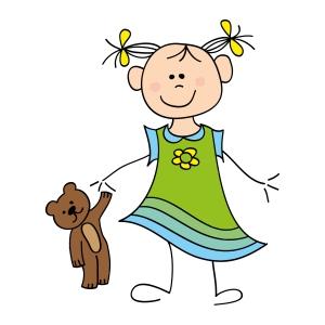 girl with teddy