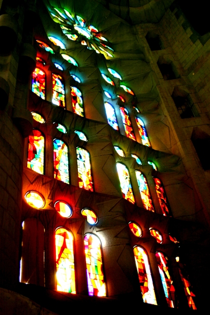If you look at a stained glass window from outside it looks drab and boring. You only really experience it if you go inside and take a look.